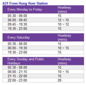 a21timetable
